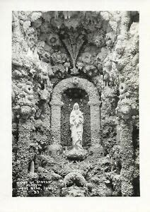 1950s photo Grotto of the Redemption Madonna statue detail West Bend I