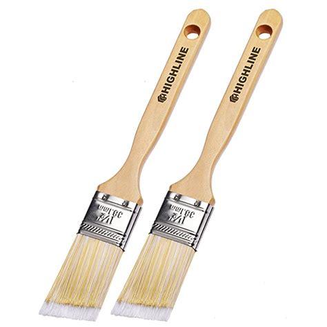 2 Pack 1 5 Wide SLANT Highline Premium Bristle Paint Brushes