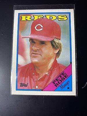 50 PETE ROSE Cincinnati Reds Manager 1988 Topps Baseball Card 475 LOT