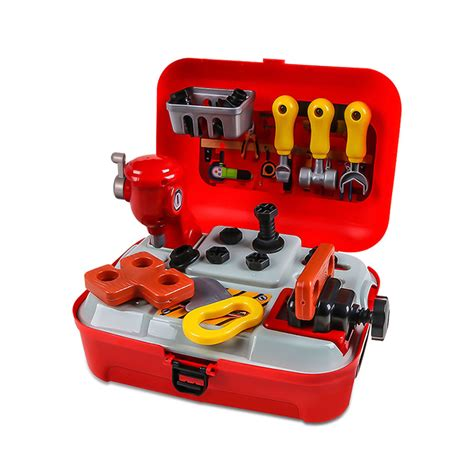 54PCS Kids Tool Toy Sets Construction Workbench Pretend Toys With Elec