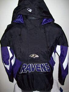 BALTIMORE RAVENS NFL Starter Hooded Half Zip Pullover Jacket 3X BLACK