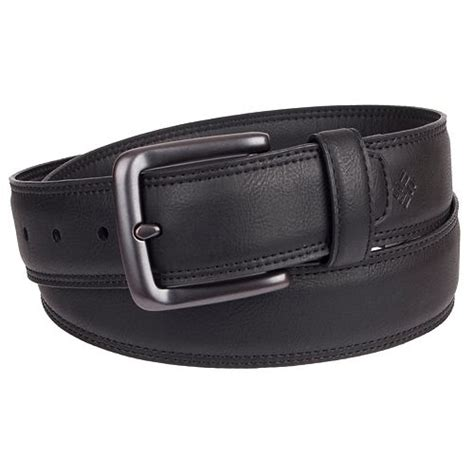 Columbia Mens Feathered Edge Leather Stretch Belt Size 38