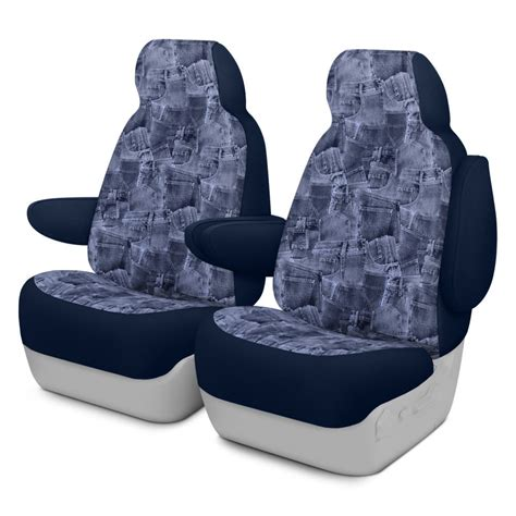 Dash Designs K020 74 2 JBL Denim 1st Row Blue Custom Seat Covers