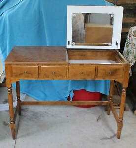 Ethan Allen Country Colors Vanity Desk Denim Blue and Wheat 14 5445