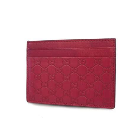 GUCCI card case Gutchishima leather BRW 233166 Sekasuto used business