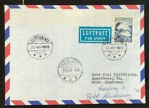 Greenland 1970 Air mail cover to Denmark Re directed