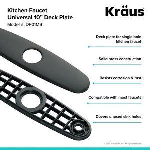 Kraus DP01 Kitchen Faucet 10 inch Deck Plate Black