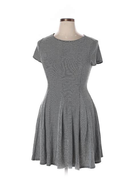 Monteau Women Gray Casual Dress XL