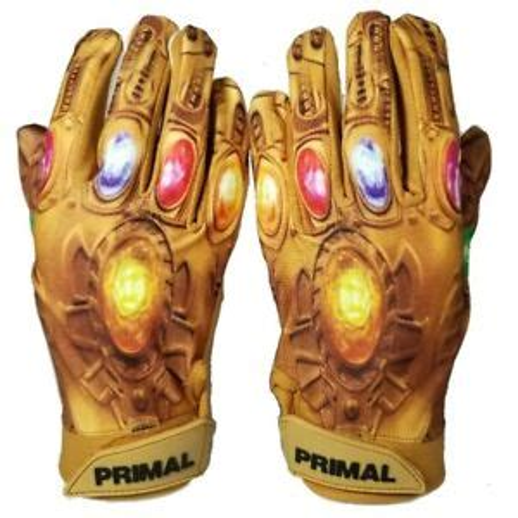 Primal Football Adult Thanos Receiver Gloves Power Stones Size Medium