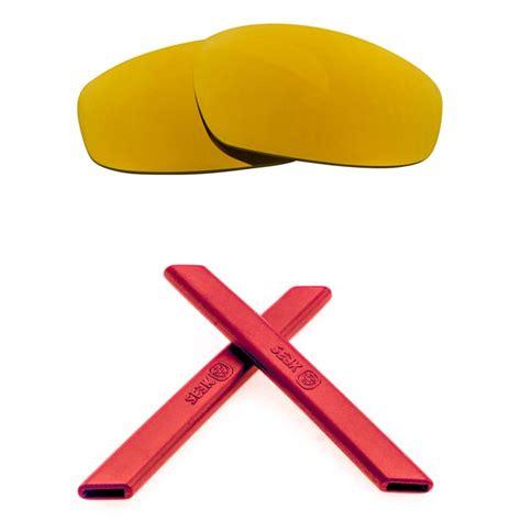 SEEK Lenses Kit Compatible for Oakley FLAK JACKET Non Polarized Red Ye