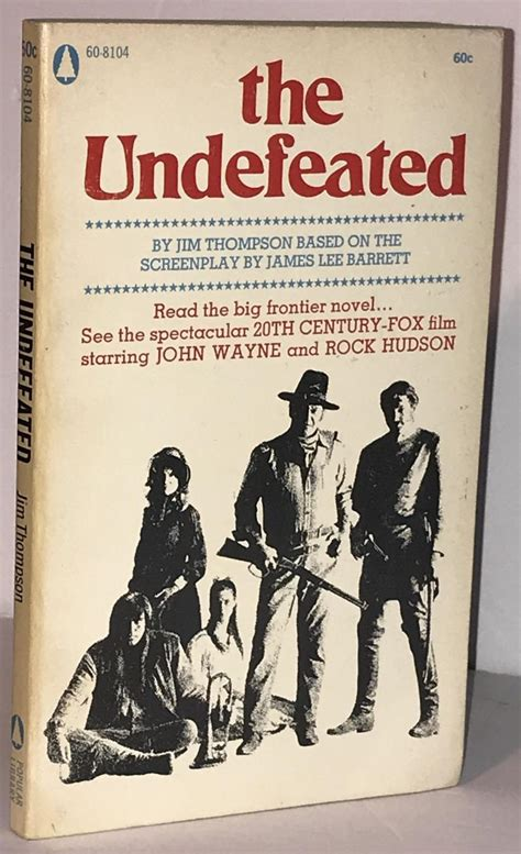 The Undefeated Jim Thompson 1st 1969 Popular Library Book Paperback Jo