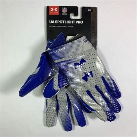 Under Armour Spotlight Skill Player Football Gloves Blue Mens XL NWT F