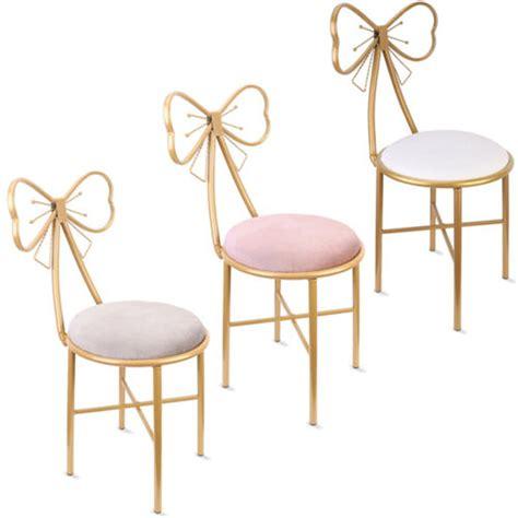 Vintage Bathroom Vanity Chair Boudoir Makeup Dressing Seat Home Decor